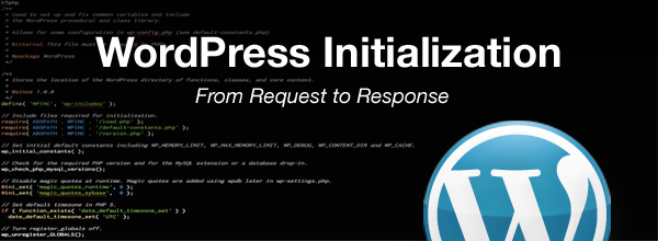 WordPress Initialization